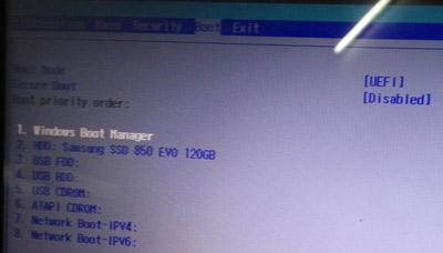 宏碁ES1-433笔记本关闭安全启动的操作方法